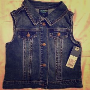 NWT OshKosh Genuine Kids Jean vest 5t